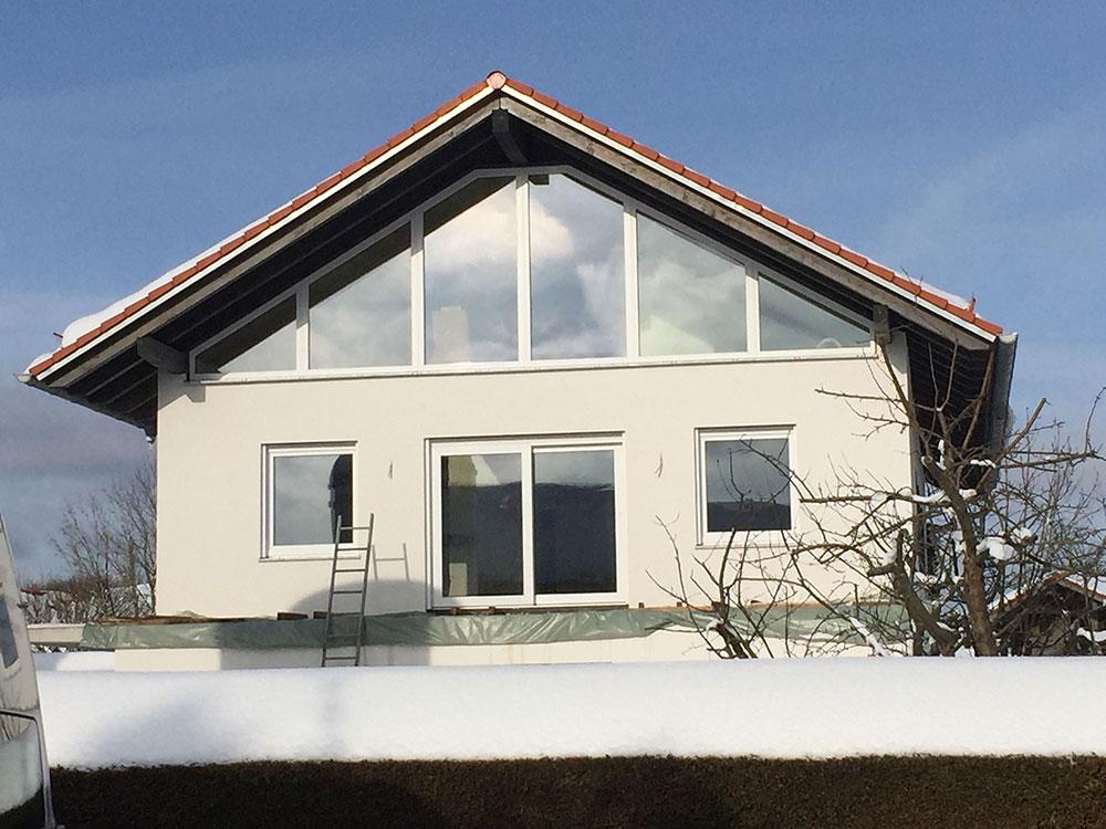 Produktbild Neubaumontage Kunststofffenster Giebelfront in München