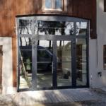 Altbaumontage Alu-Fenster in Amerang Eingang